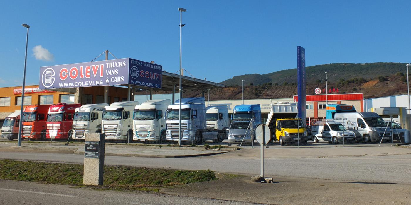 Exposición venta camiones Colevi San Román de Bembibre